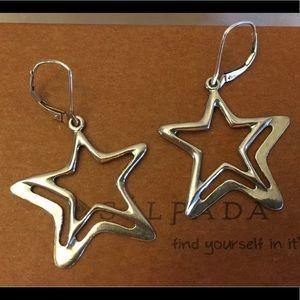 Silpada Star Sterling Silver Earrings locking hook